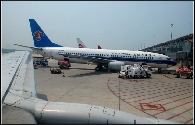 郑州机场南航的飞机