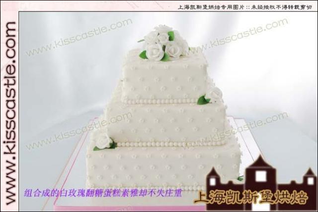 翻糖白玫瑰蛋糕(附加:翻糖白玫瑰的制作步骤)0/?