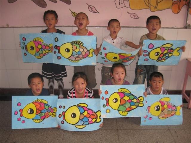儿童抽象水粉画