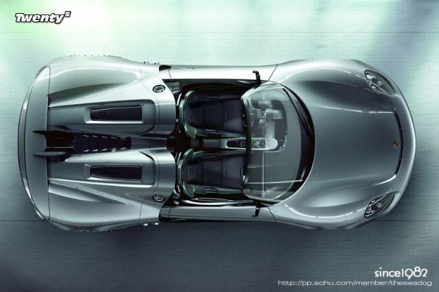 porsche保时捷新918 超级概念款敞篷跑车图 高清图片