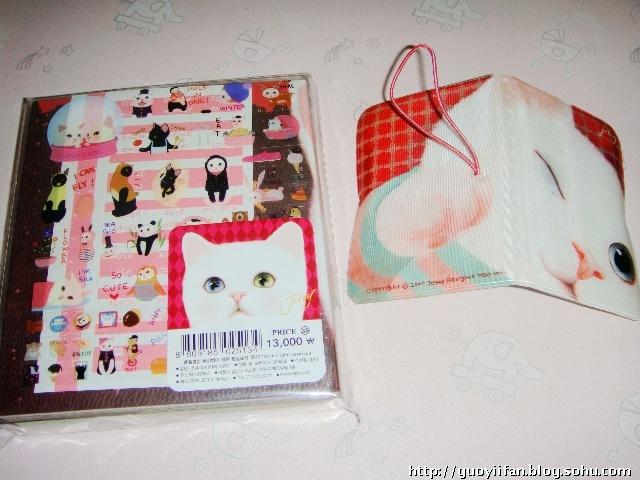 (右边的是我自己的小卡包~也是小猫猫的~)   真的很漂亮啊!