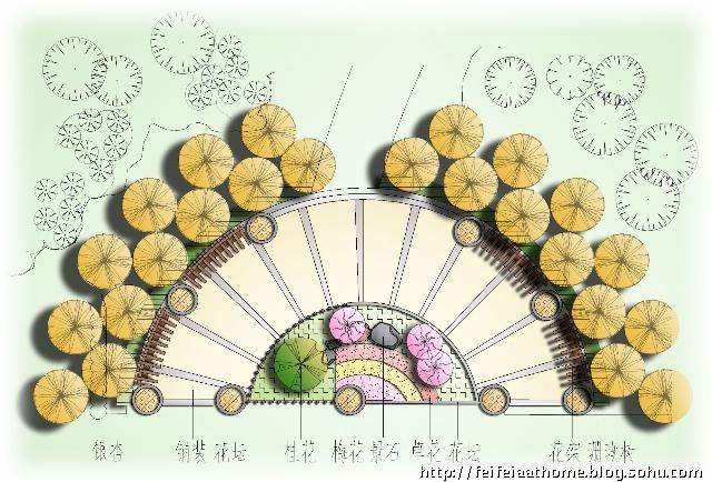 花坛设计效果图手绘花坛设计图小花坛设计图_点