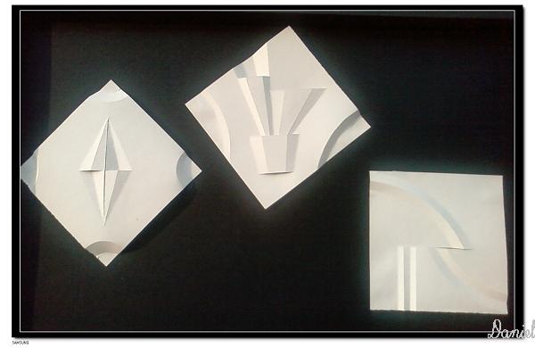 立体构成柱形构成折纸内容|立体构成柱形构成折纸版面设计