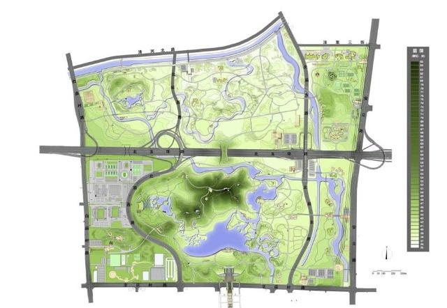 北京马甸公园平面图