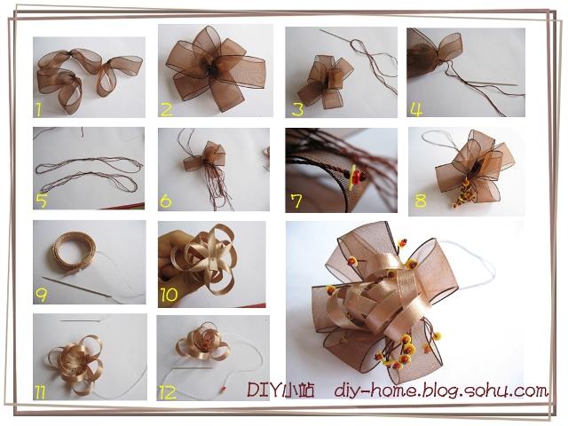 丝带花制作步骤-diy小站(明月的手工博客)-我的搜狐