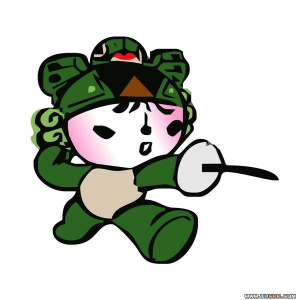 北京奥运会吉祥物的每个娃娃都代表着一个美好的祝愿:繁荣,欢乐,激情