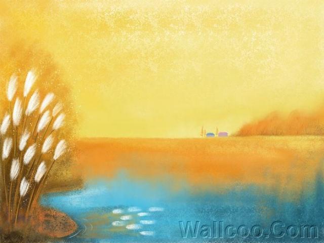 Painter 水彩风格 童话秋天插画壁纸