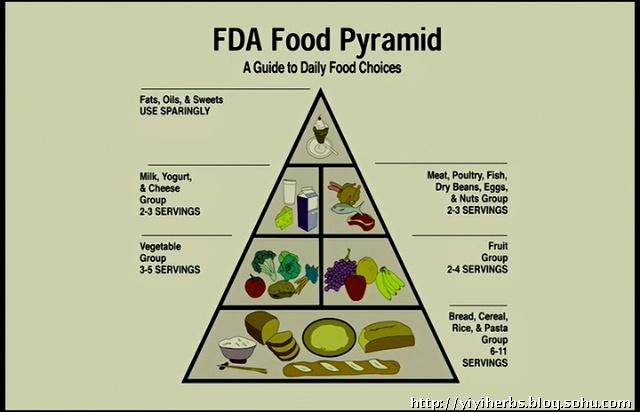 原来的食物金字塔,已经很糟了