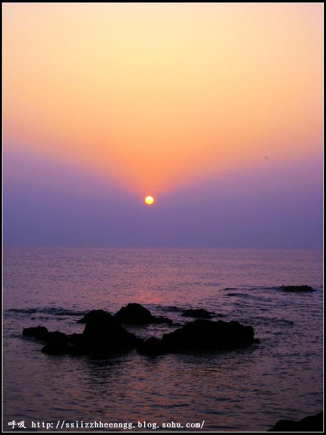住在烟台养马岛,早饭前看日出