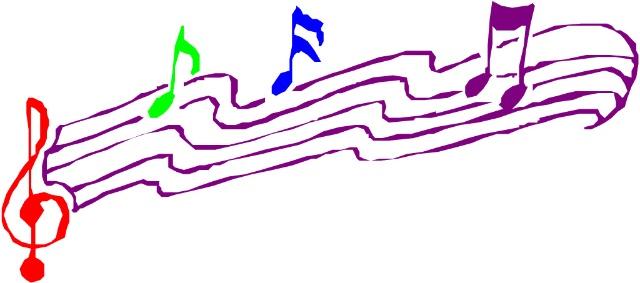 钢琴音符风景图片