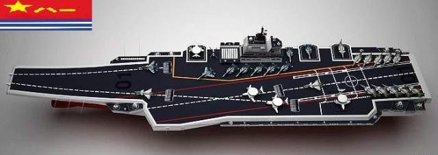 中国航母编队模型