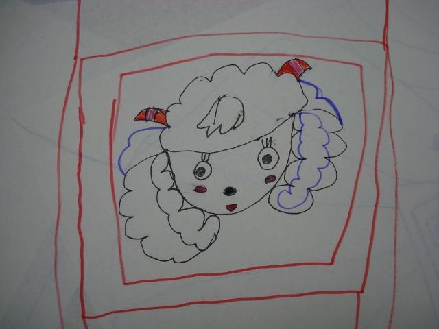 纸碟画手绘图片简单