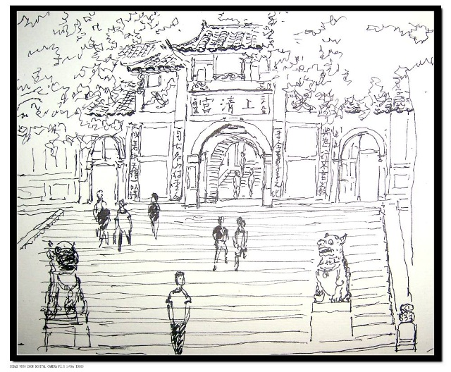 老街绘画速写步骤