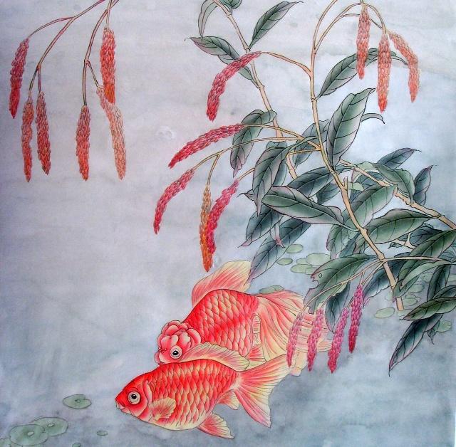 工笔画金鱼