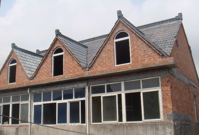 农村一楼贴琉璃瓦自建房设计图展示图片