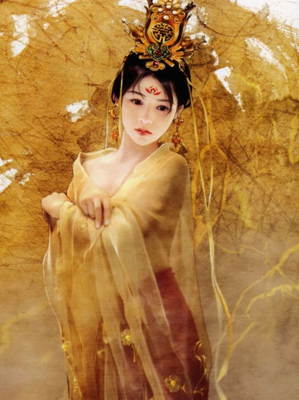 妖姬古装美女手绘图