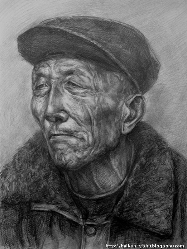 素描人物写生-拜玮-搜狐博客