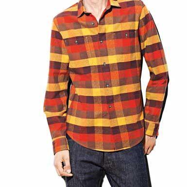 格子衬衫与牛仔裤搭配-男士格子衬衫最完美搭配