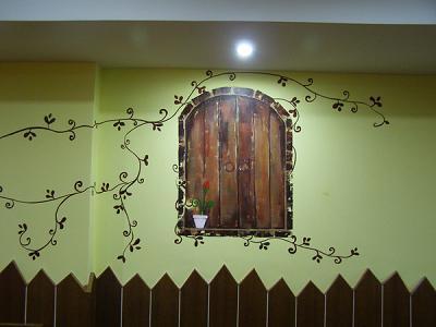 手绘墙图片