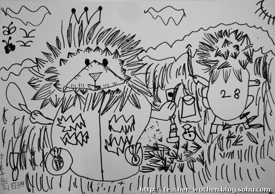 线描 儿童画